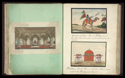 The interior of the Diwan-i-Khas (left), Camel Artillery Man (top right), Bridal Dohleh (bottom right)